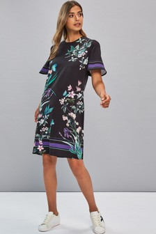 Butterfly Print Shift Dress