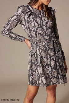 c94b97d73cc3 Karen Millen Snake Print Dress
