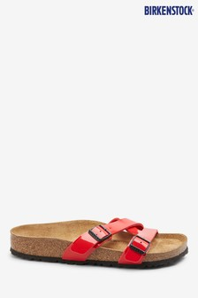 Birkenstock® Red Patent Yao Balance Sandals