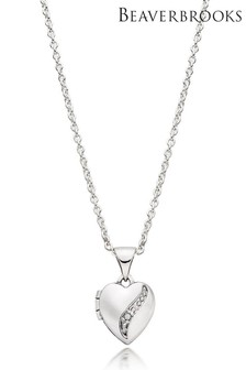 Beaverbrooks Children's Silver Diamond Heart Locket