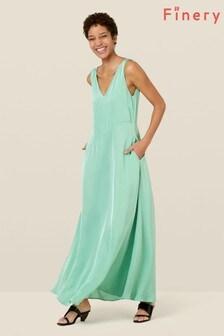 Finery London Green Katrina Satin Maxi Dress