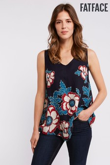 FatFace Blue Ruby Japanese Blooms Longline Top