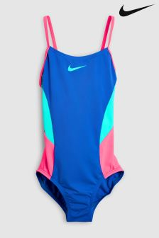 Nike Blue V-Back Swimsuit