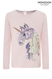 Monsoon Pale Pink Sierra Unicorn Top