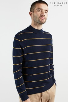 Ted Baker Nocal Stripe Mock Neck Knit Top