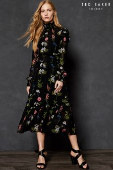Ted Baker Florence Floral Midi Dress