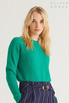 Oliver Bonas Green Lily Sweater