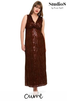 Studio 8 Red Hope Sequin Maxi Dress