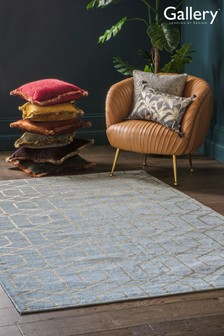 Gallery Direct Grey Winchester Gold Geo Rug