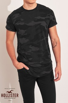 Hollister Black Tie Dye T-Shirt