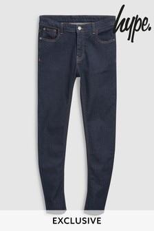 Ciemnoniebieskie spodnie dżinsowe Hype Core