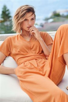 a52f3254962 Women s jumpsuits and playsuits Jumpsuit Orange Casual