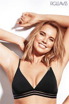 Figleaves Black Icon Cara Soft Triangle Bikini Top