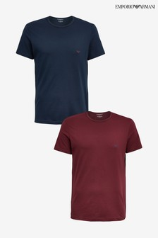 Emporio Armani Red/Navy Lounge T-Shirt Two Pack