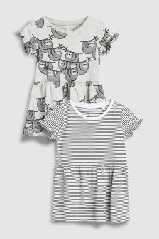 Sloth Dress Two Pack (3mths-6yrs)