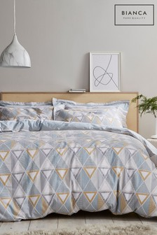 Bianca Astrid Geo Cotton Duvet Cover And Pillowcase Set