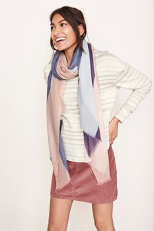 Stripe Layer Scarf Top
