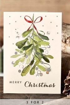 10 Pack Mistletoe Cards