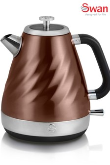 Swan Twist Copper Jug Kettle