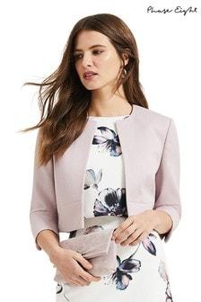 Phase Eight Purple Tara Textured Jacket