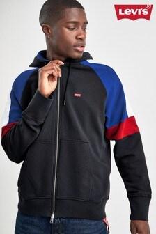 Levi's Black Panelled Zip Through Hoody