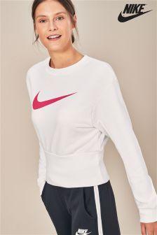 Nike Swoosh White Crew