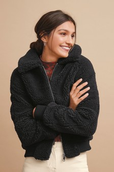 Borg Teddy Bomber Coat