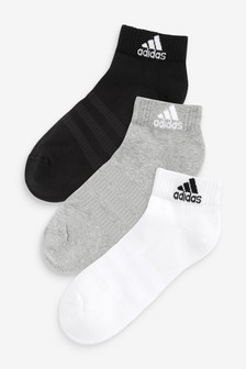 adidas Adults 3 Pack Ankle Socks