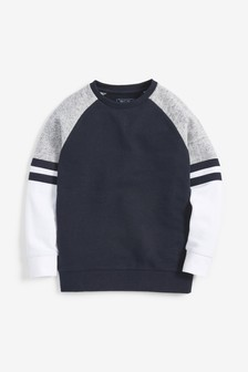 Colourblock Raglan Sweater (3-16yrs)