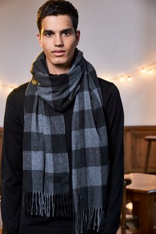 Oversize Check Scarf