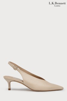 L.K.Bennett Cream Livia Court Shoe