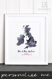 Personalised Special Location Framed Print by Letterfest