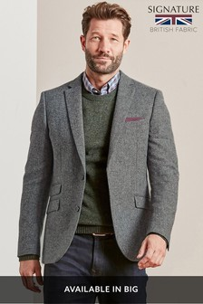 Slim Fit Moons Signature British Wool Donegal Jacket