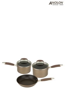 Set of 3 Analon Advanced Umber Pans