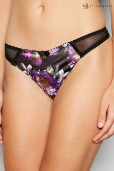B by Ted Baker Black Sunlit Floral Thong
