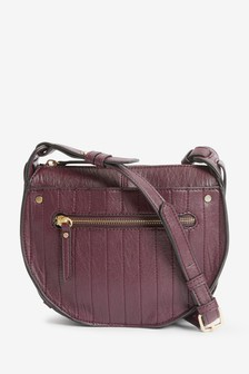 Quilted Detail Saddle Across-Body Bag