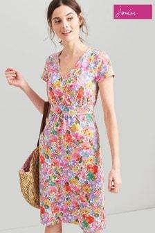 Joules Pink Jude Jerse Wrap Dress