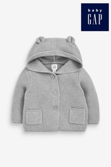 Gap Baby Hooded Cardigan With Ears