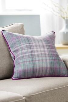 Hadley Woven Check Cushion