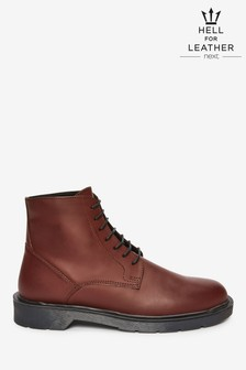 Ridged Sole Leather Tall Boots