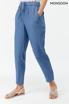 Monsoon Ladies Blue Angelo Trouser