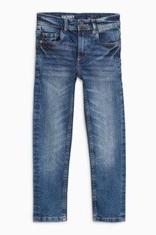 Зауженные джинсы с эффектом кислотной стирки (3-16 лет)