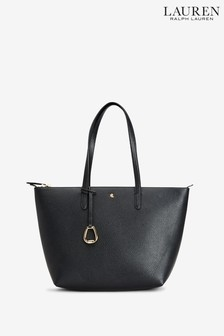 Lauren Ralph Lauren® Black Vegan Leather Keaton Tote Bag