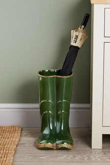 Wellington Boots Ceramic Vase