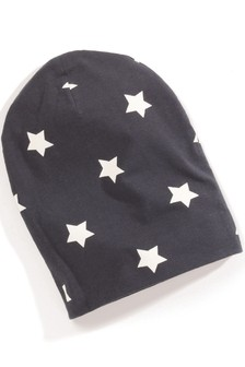 Star Print Jersey Beanie (Younger)