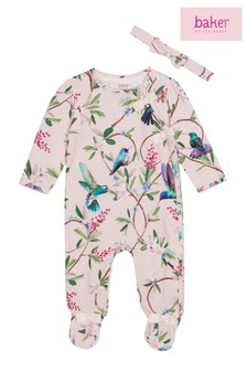 baker by Ted Baker Floral All Over Print Sleepsuit