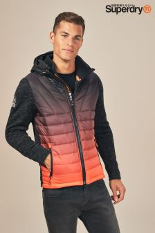 Superdry Black Storm Ombre Hybrid Jacket