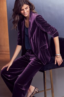 Velvet Relaxed Edge To Edge Jacket