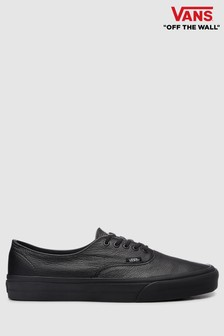 Vans Black Leather Authentic Trainer 540c72af1bb