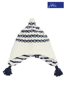 Joules Cream Knitted Hat